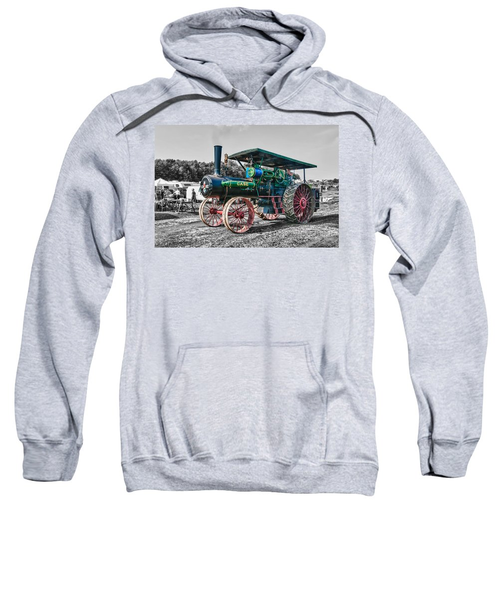 Guy Whiteley Photography Sweatshirt featuring the photograph Case Tractor by Guy Whiteley