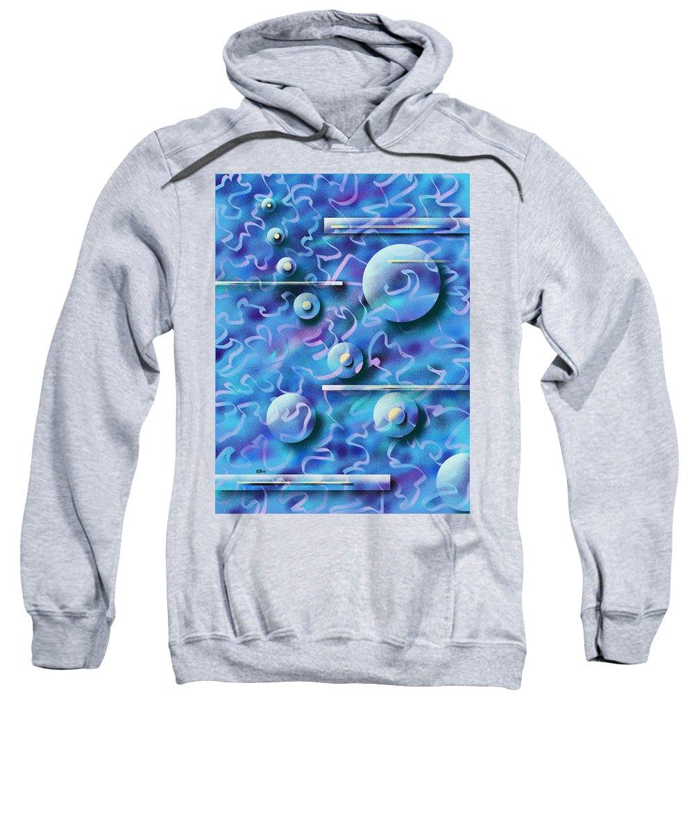Digital Sweatshirt featuring the painting Celebration by Hakon Soreide