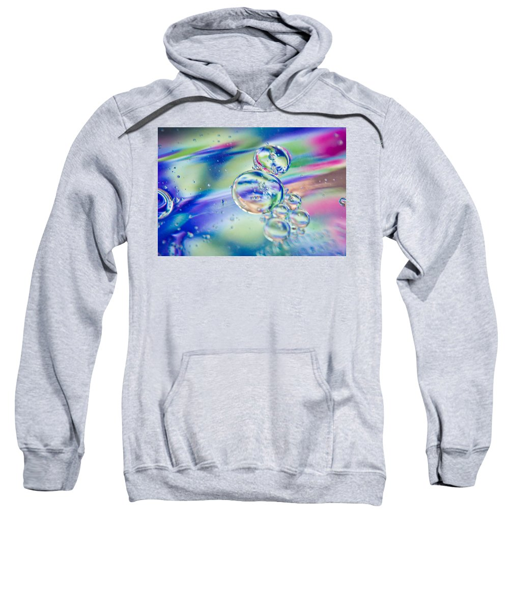Abstract Sweatshirt featuring the photograph Celestial Circles by Sara Frank
