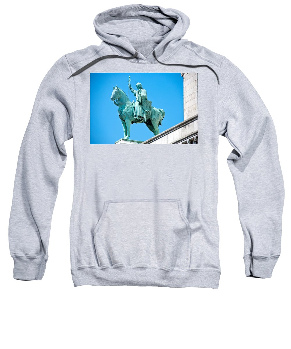 France Sweatshirt featuring the photograph Chalemagne At Sacre Coeur Basilica by Jon Berghoff