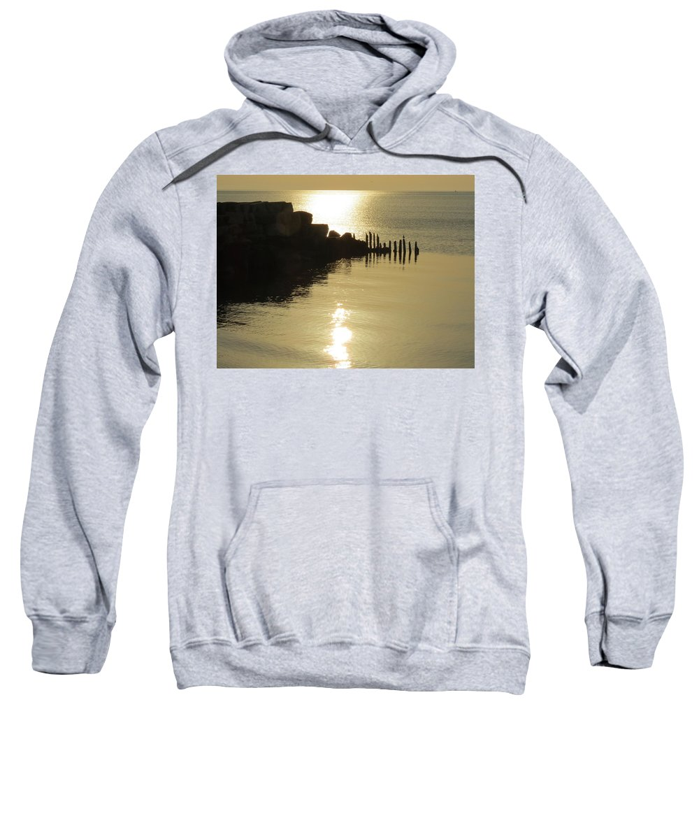 Wisconsin Sweatshirt featuring the photograph Champagne Glow by Kay Novy