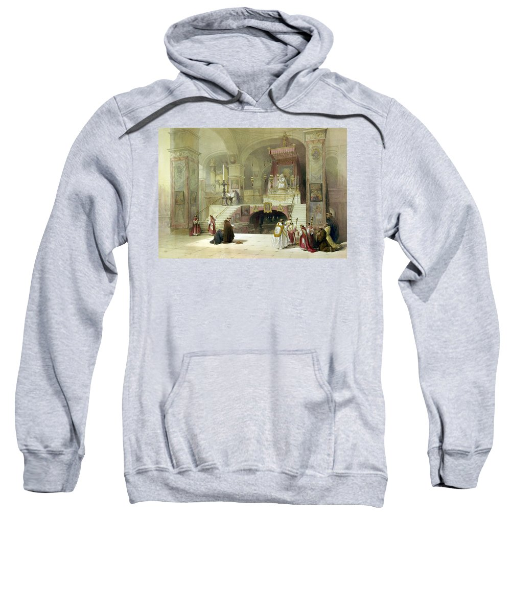 Chapel Sweatshirt featuring the photograph Chapel Of The Annunciation Nazareth by Munir Alawi