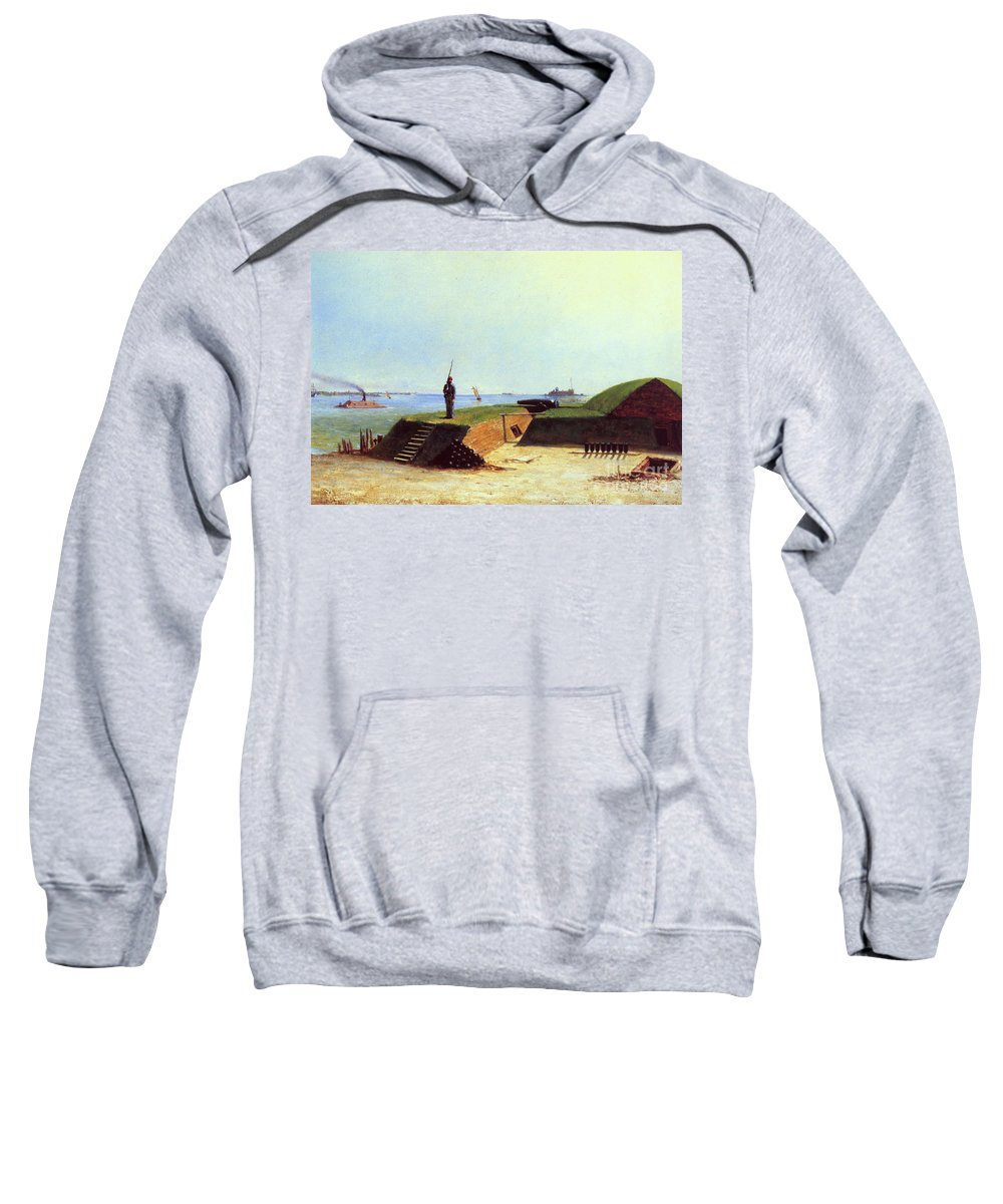 1864 Sweatshirt featuring the photograph Charleston Battery, 1864 by Granger