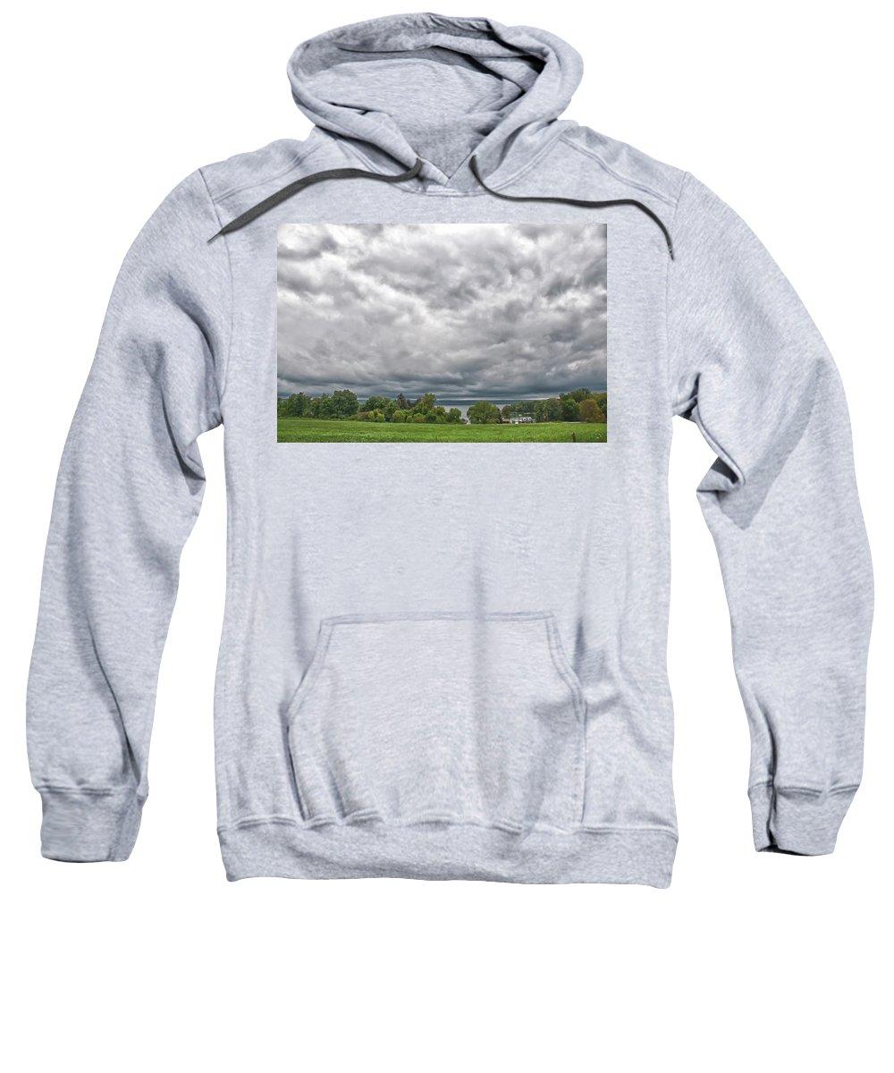 Chautauqua Lake Sweatshirt featuring the photograph Chautauqua Lake Clouds 8625 by Guy Whiteley