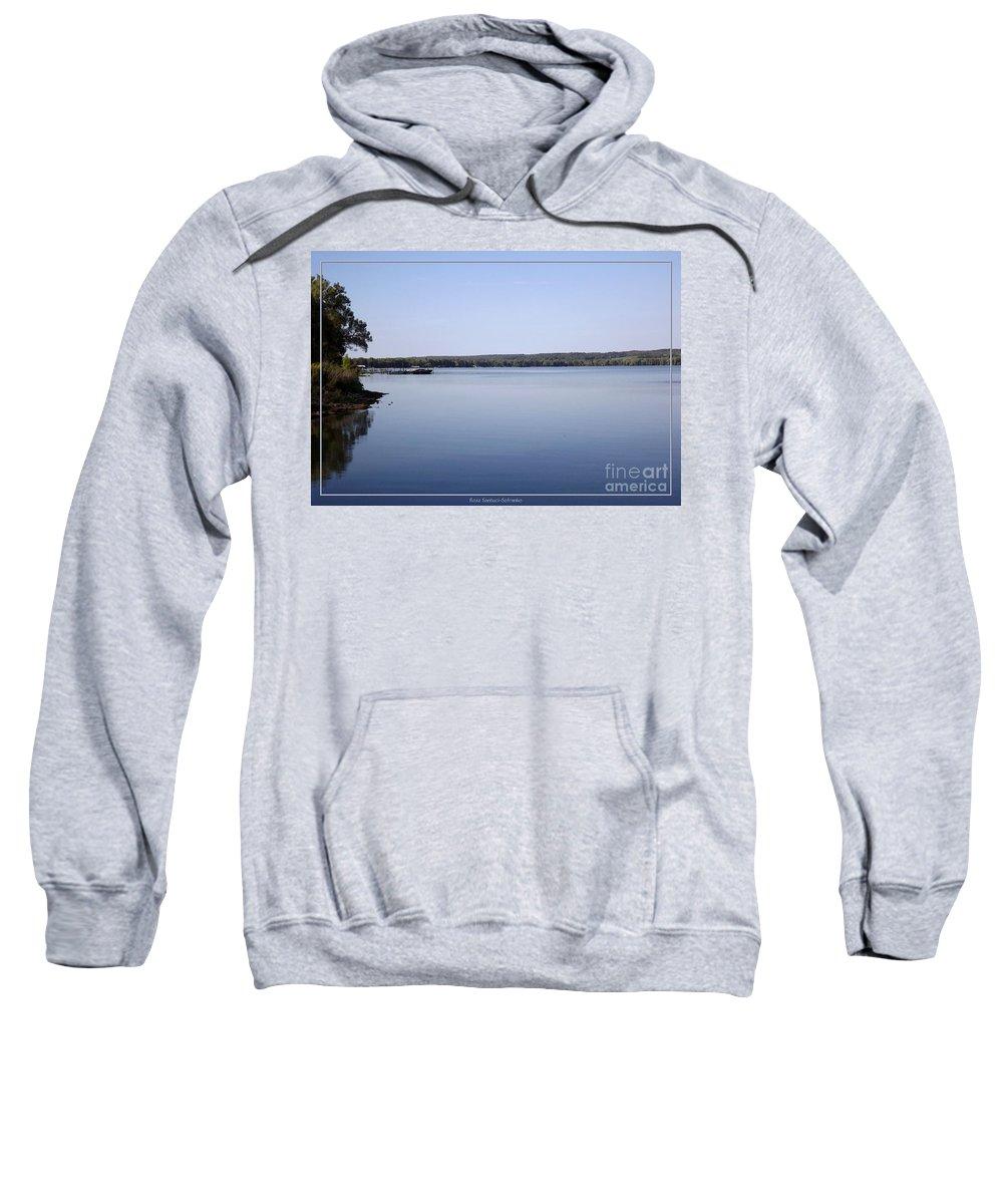 Chautauqua Lake Sweatshirt featuring the photograph Chautauqua Lake With Watercolor Effect by Rose Santuci-Sofranko