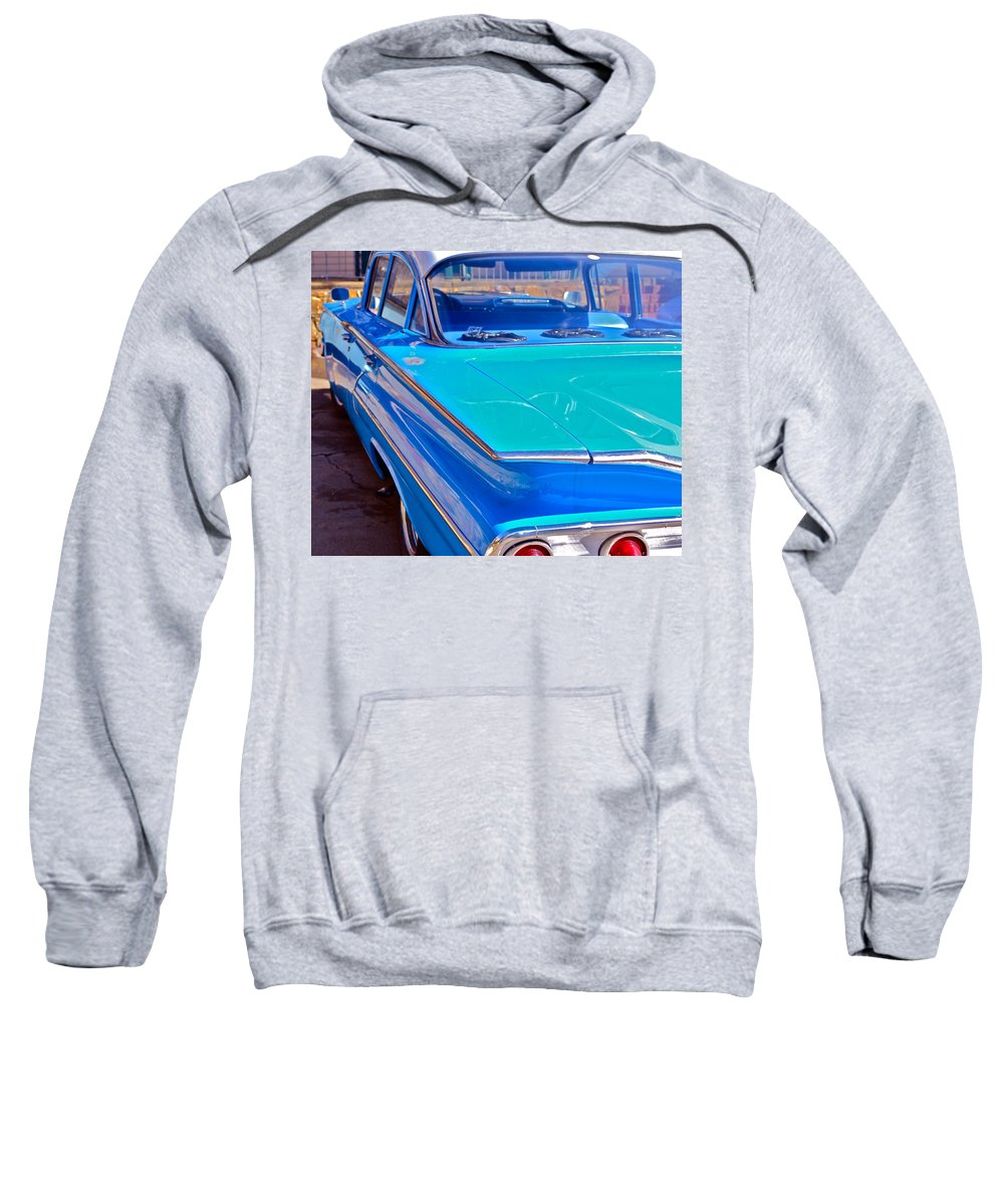 Chevy Sweatshirt featuring the photograph Chevy Bel Air by Bill Owen