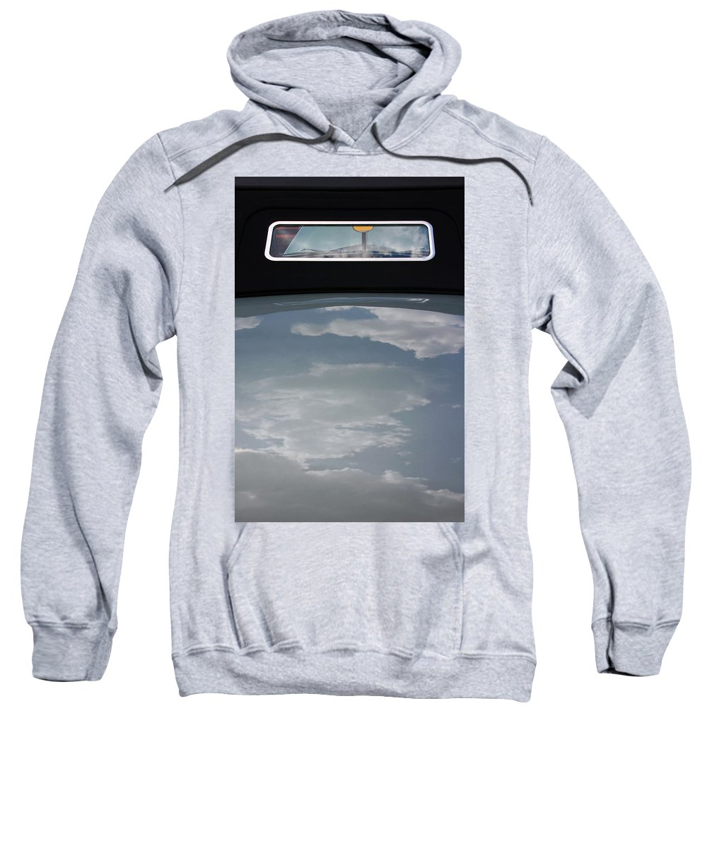 Chevy Sweatshirt featuring the photograph Chevy Coupe Rear Window by Carolyn Stagger Cokley