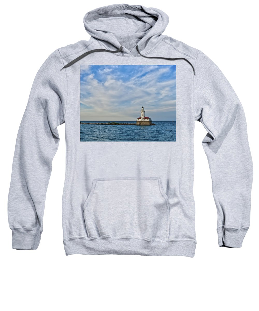 Lighthouse Sweatshirt featuring the photograph Chicago Lighthouse by Scott Wood