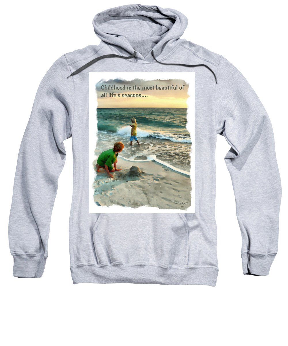 Children Sweatshirt featuring the digital art Childhood by Tom Schmidt