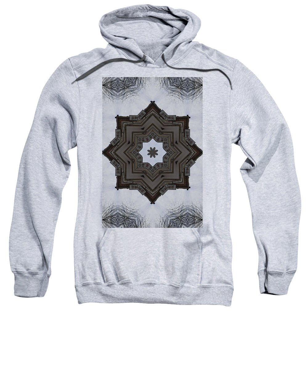 China Town Sweatshirt featuring the photograph Chinese Star by Trish Tritz