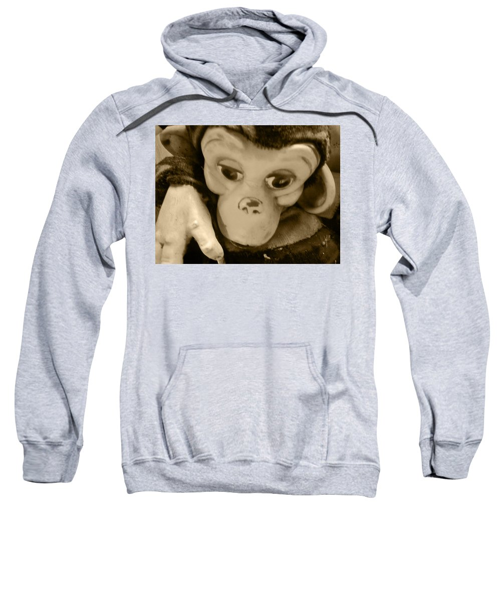 Chimp Sweatshirt featuring the photograph Chongo The Chimp by Kym Backland