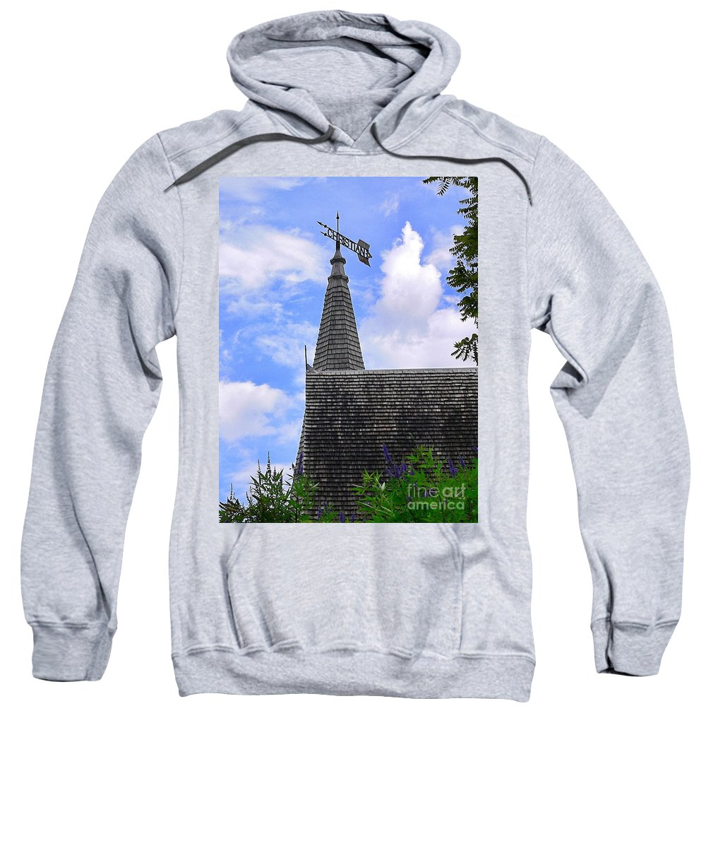 Architecture Sweatshirt featuring the photograph Christian Church by Angela Wright