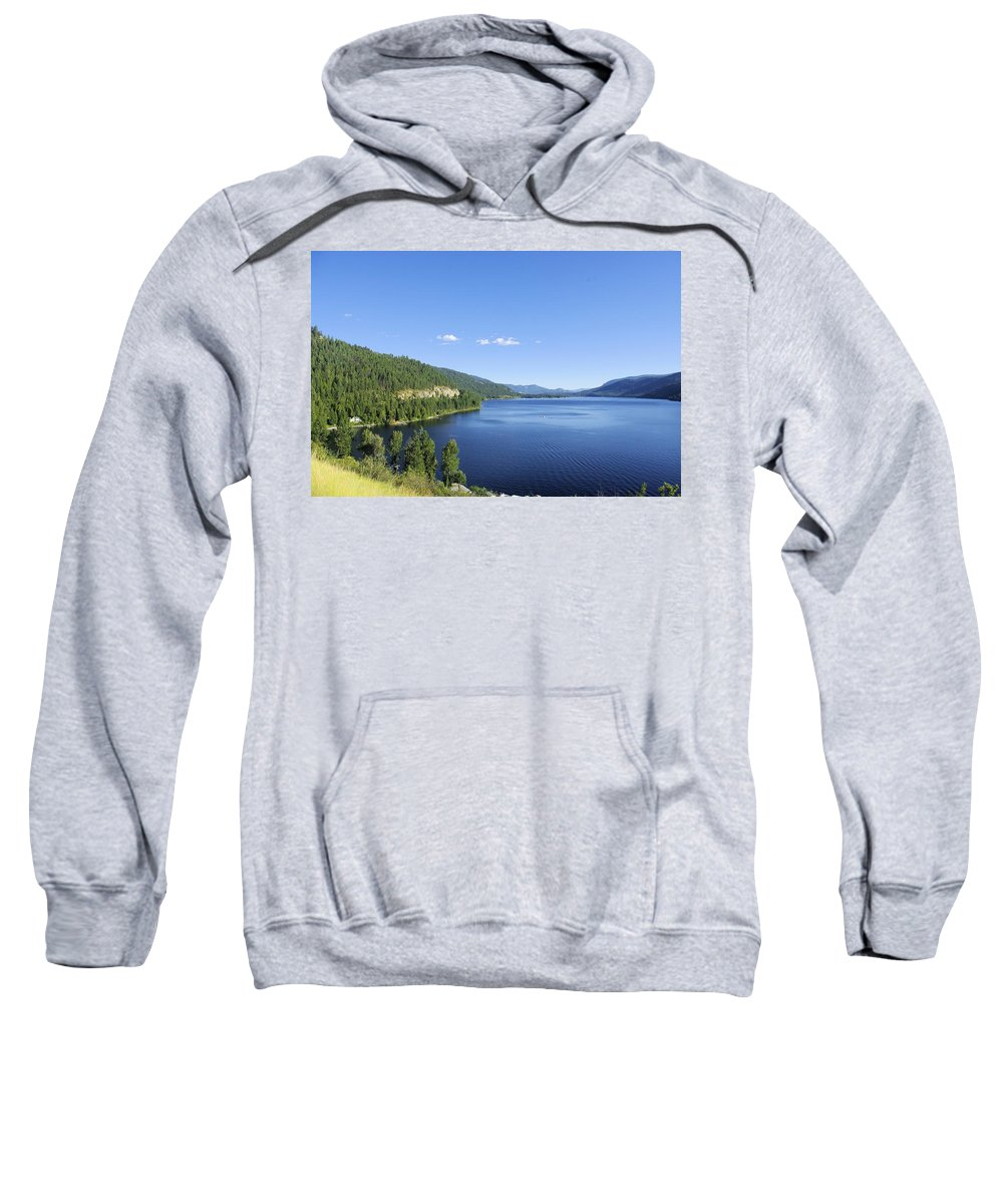 Christina Sweatshirt featuring the photograph Christina Lake by John Greaves