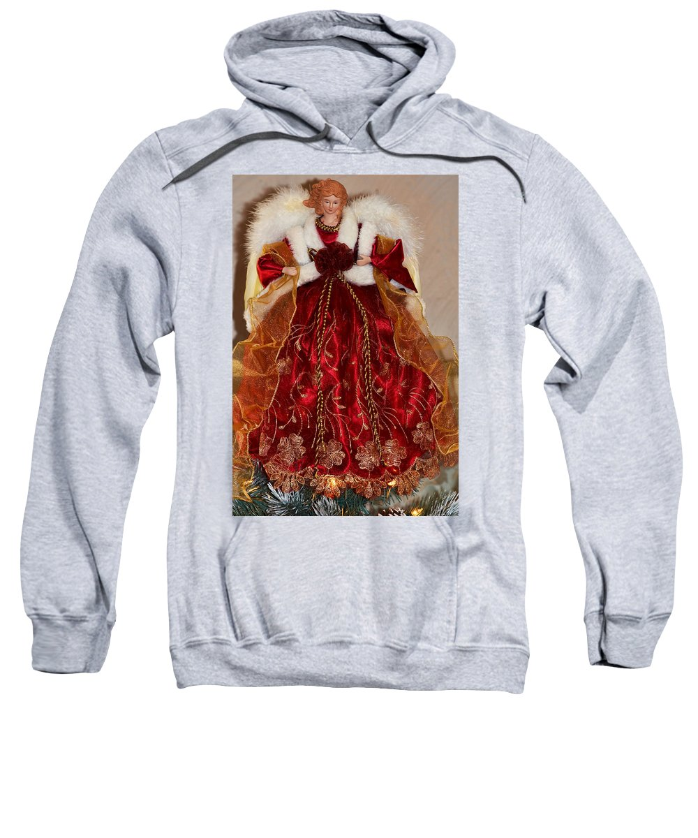 Christmas Sweatshirt featuring the photograph Christmas Angle by Debbie Portwood