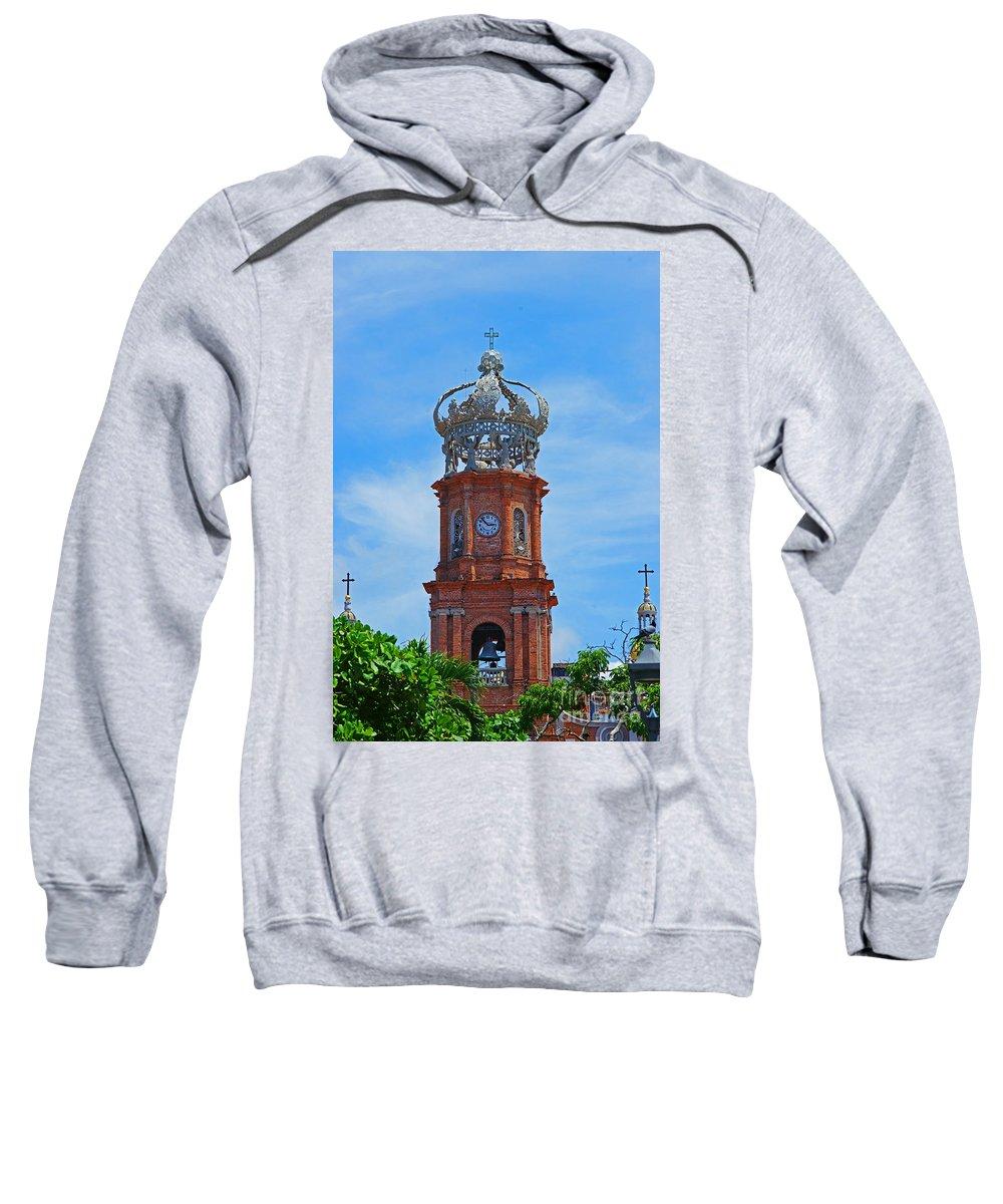 Churches Sweatshirt featuring the photograph Church In Puerto Vallarta by Randy Harris
