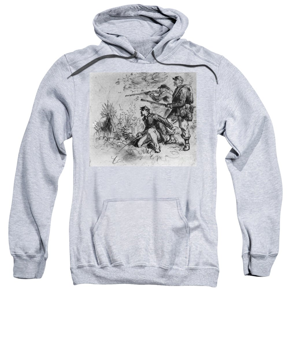 1860s Sweatshirt featuring the photograph Civil War: Union Infantry by Granger