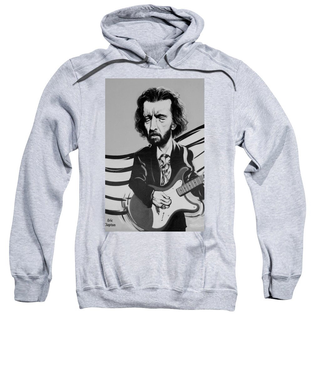 Eric Clapton Sweatshirt featuring the photograph Clapton In Black And White by Rob Hans
