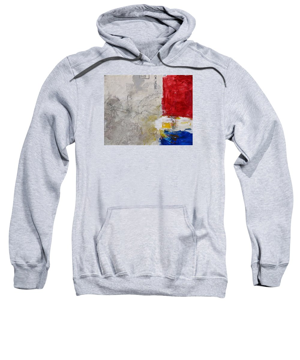 Abstract Painting Sweatshirt featuring the painting Clear Cut by Cliff Spohn