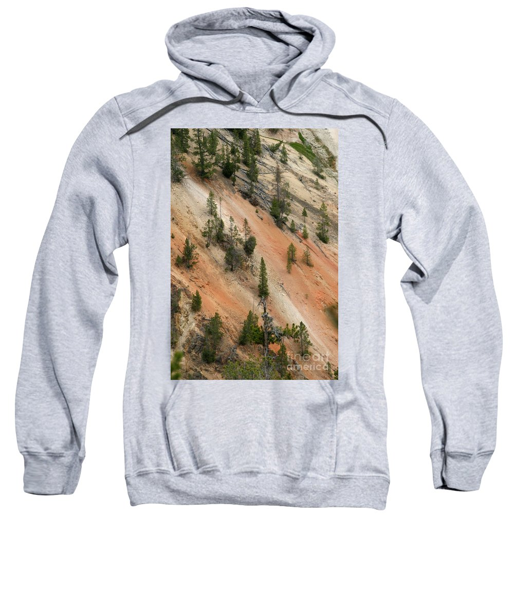 Grand Canyon Sweatshirt featuring the photograph Cliff Side Grand Canyon Colors Vertical by Living Color Photography Lorraine Lynch