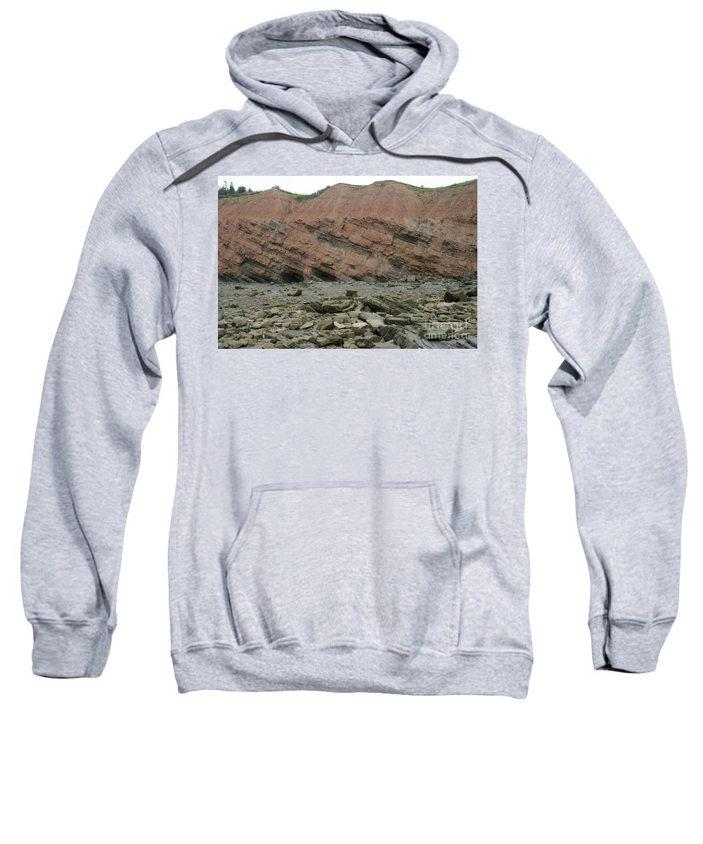 Fossil Sweatshirt featuring the photograph Cliffs At Joggins Nova Scotia by Ted Kinsman