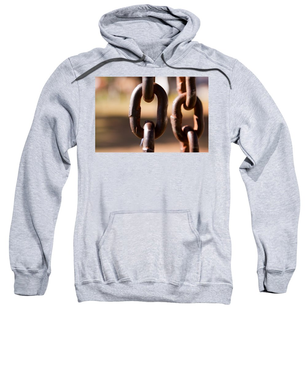 Metal Sweatshirt featuring the photograph Close Up Of A Chain Link by Ashish Agarwal