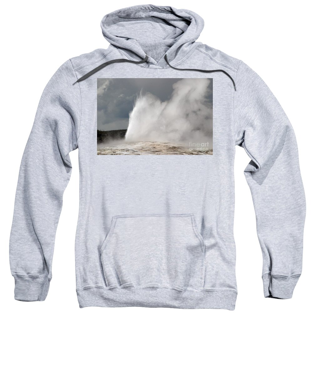 Old Faithful Sweatshirt featuring the photograph Close Up Of Old Faithful by Living Color Photography Lorraine Lynch