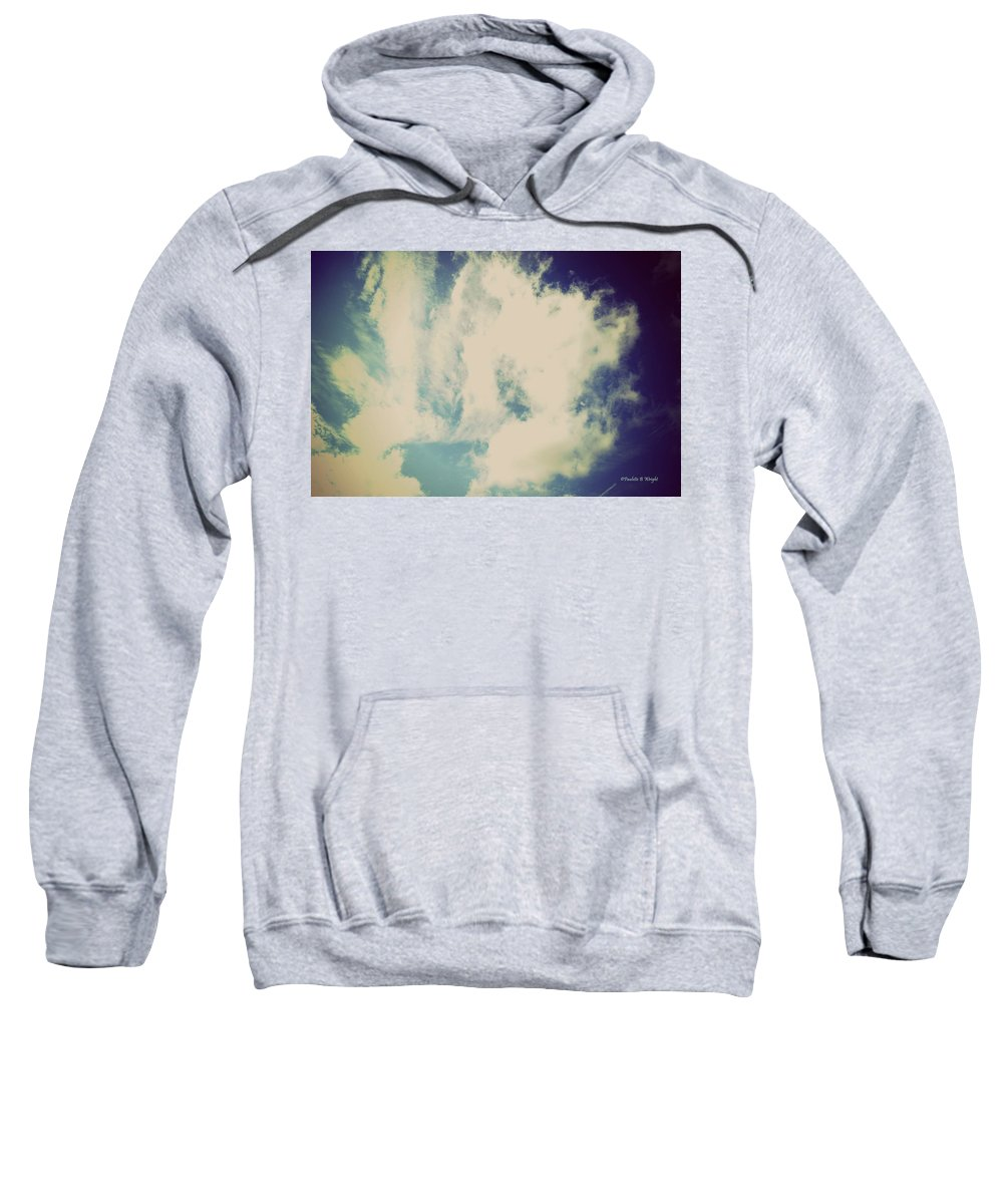 Clouds Sweatshirt featuring the photograph Clouds-5 by Paulette B Wright