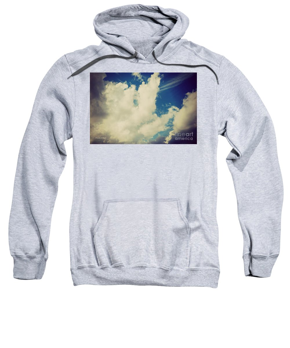 Drama Queen Sweatshirt featuring the photograph Clouds-7 by Paulette B Wright