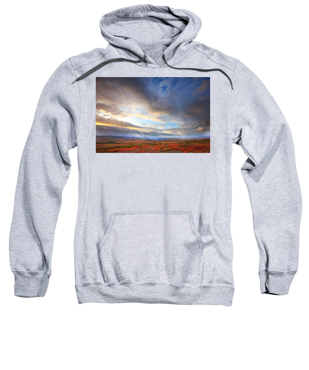 Light Sweatshirt featuring the photograph Clouds At Sunrise At The Arctic Circle by Robert Postma