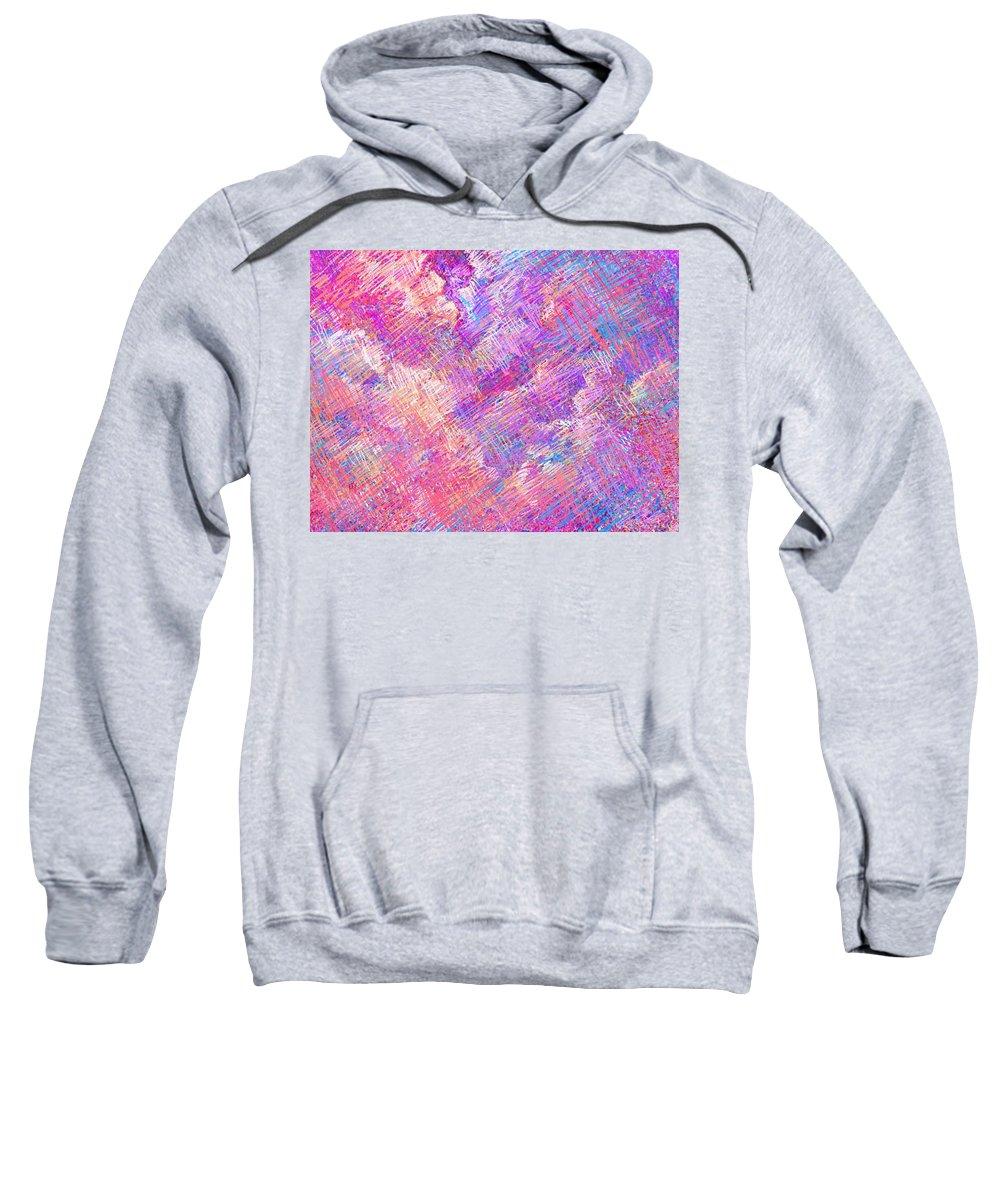 Clouds Sweatshirt featuring the digital art Cloudy Nights by Rachel Christine Nowicki