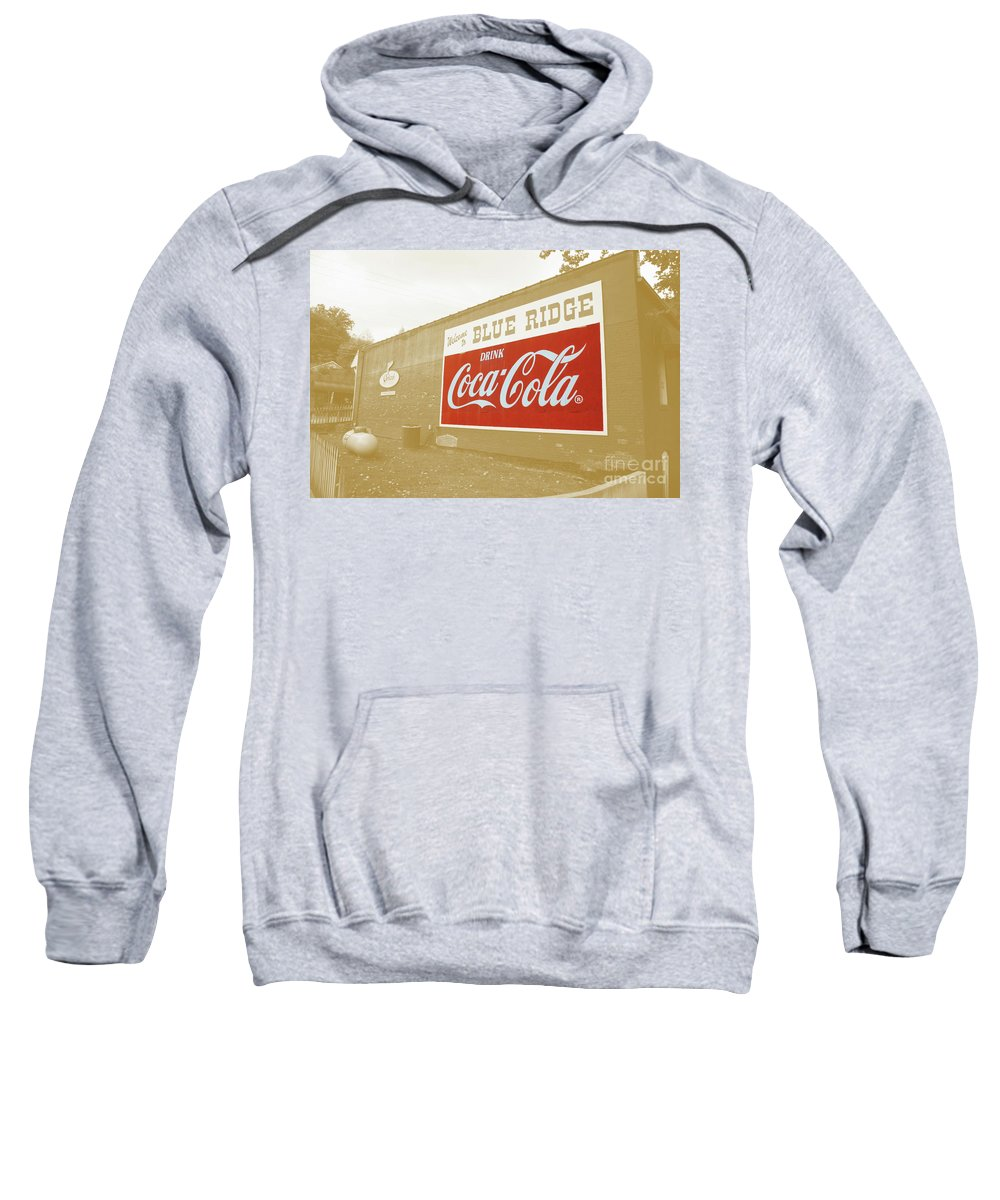 Blue Sweatshirt featuring the photograph Coca-cola Sepia by Jost Houk