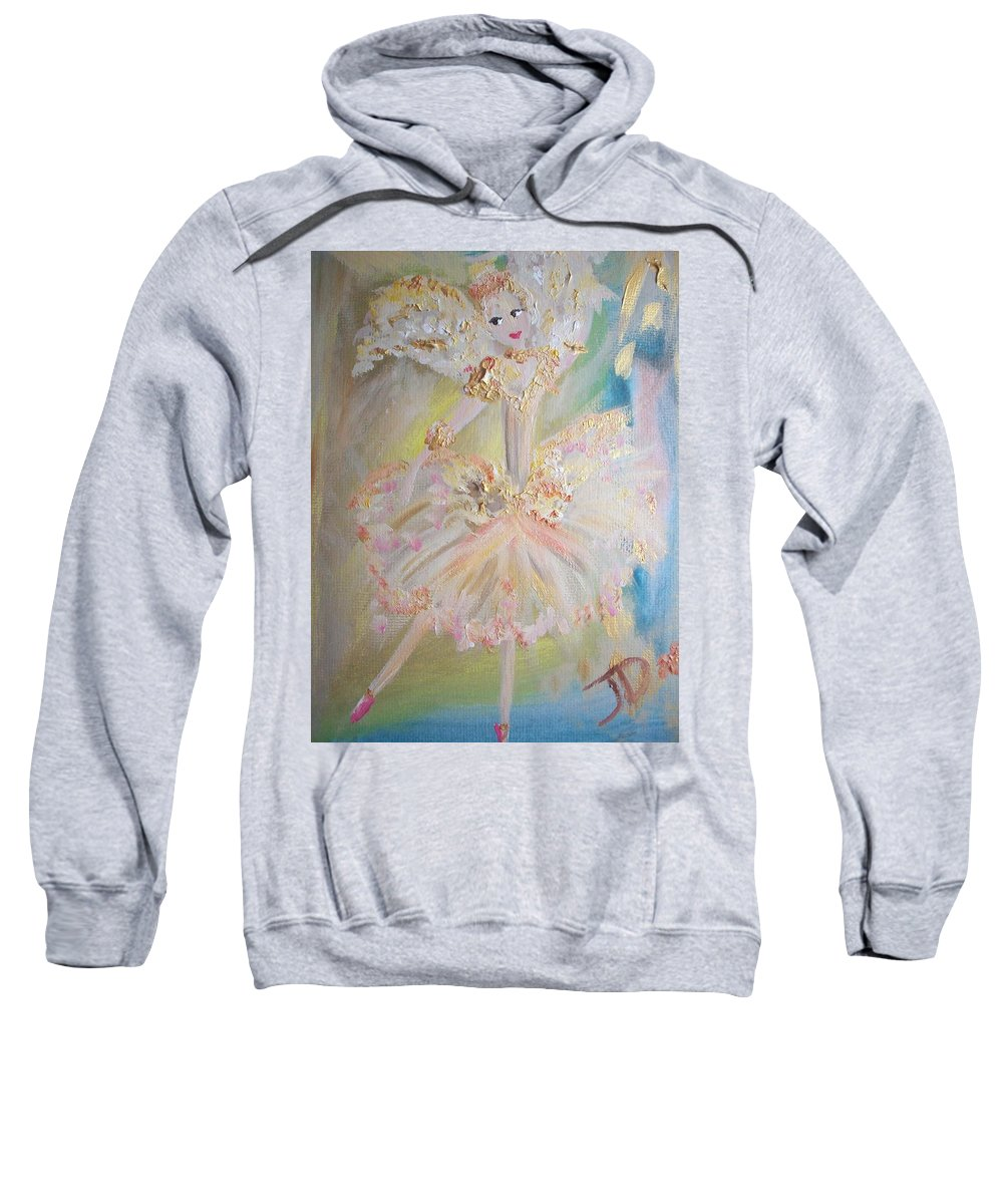 Coffee Sweatshirt featuring the painting Coffee Fairy by Judith Desrosiers