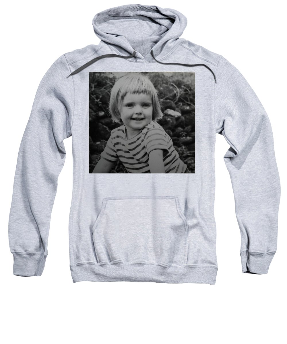Colette Sweatshirt featuring the photograph Colette Happy 4 Years Old In France by Colette V Hera Guggenheim