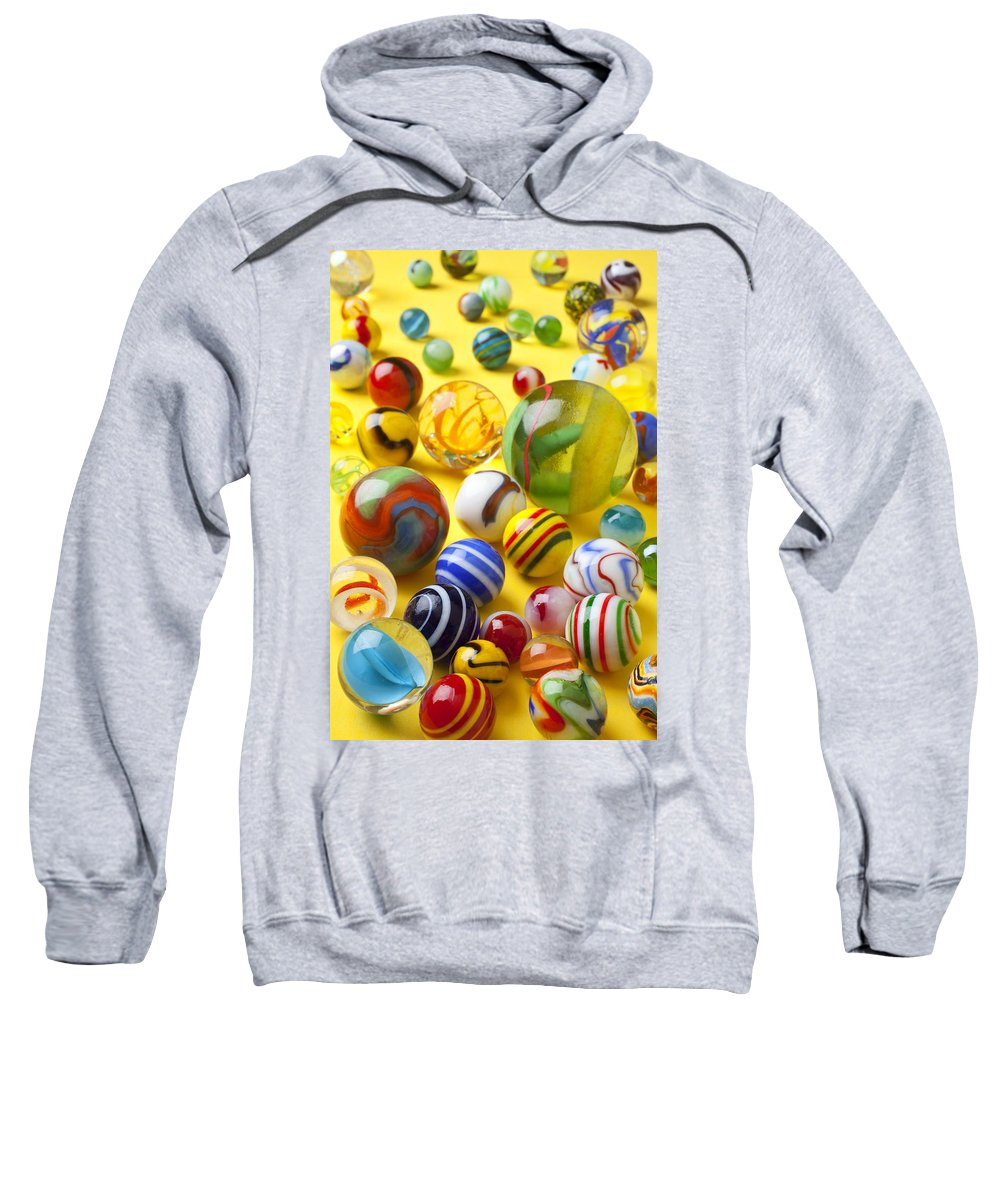 Marbles Sweatshirt featuring the photograph Colorful Marbles Two by Garry Gay