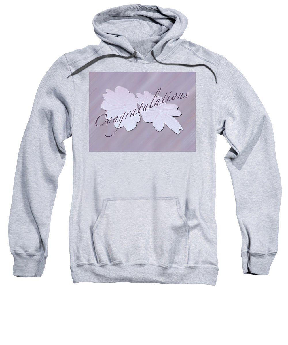 Congratulations Sweatshirt featuring the photograph Congratulations Greeting Card - New Guinea Impatiens by Mother Nature