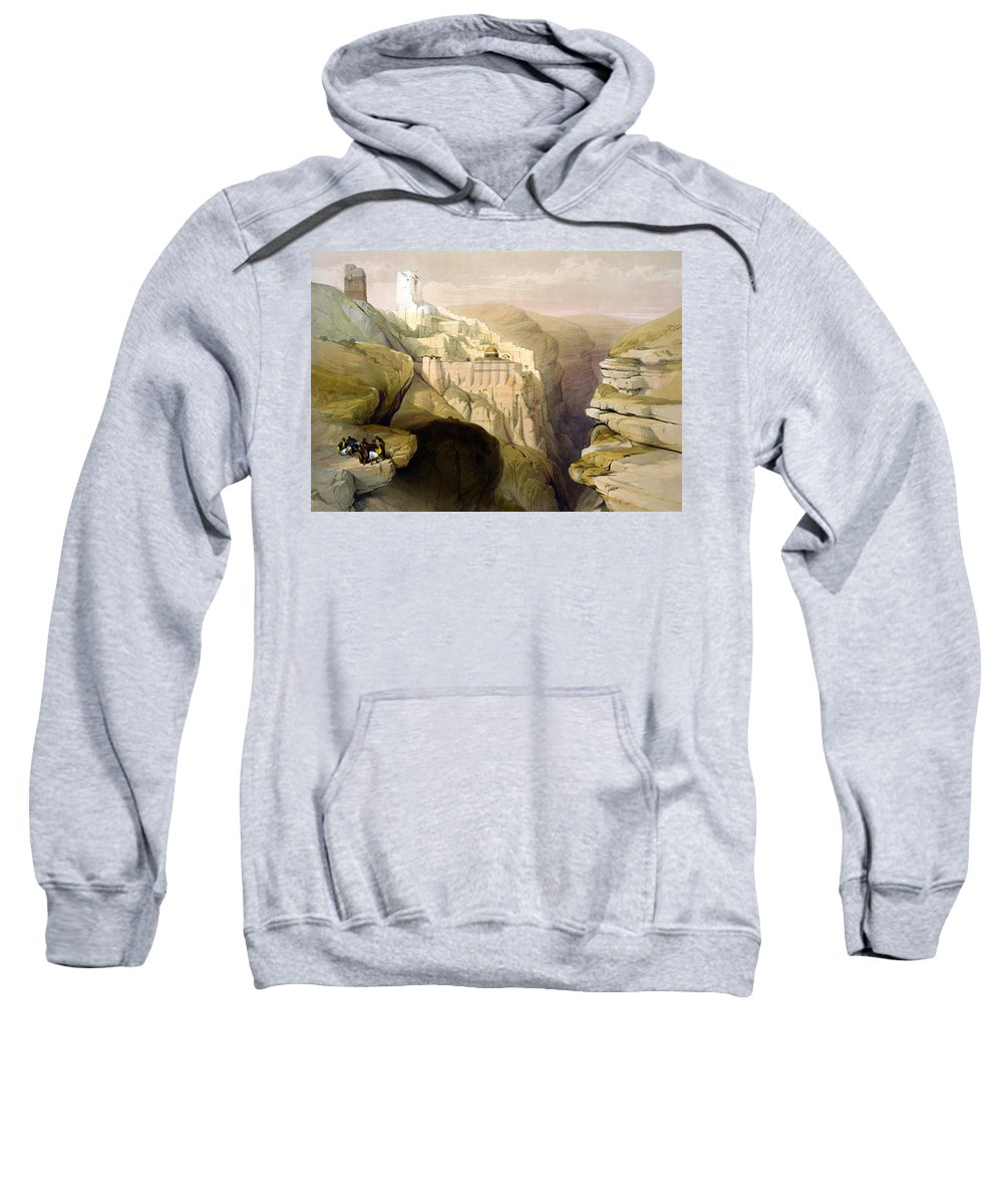 Convent Sweatshirt featuring the photograph Convent Of St Saba by Munir Alawi