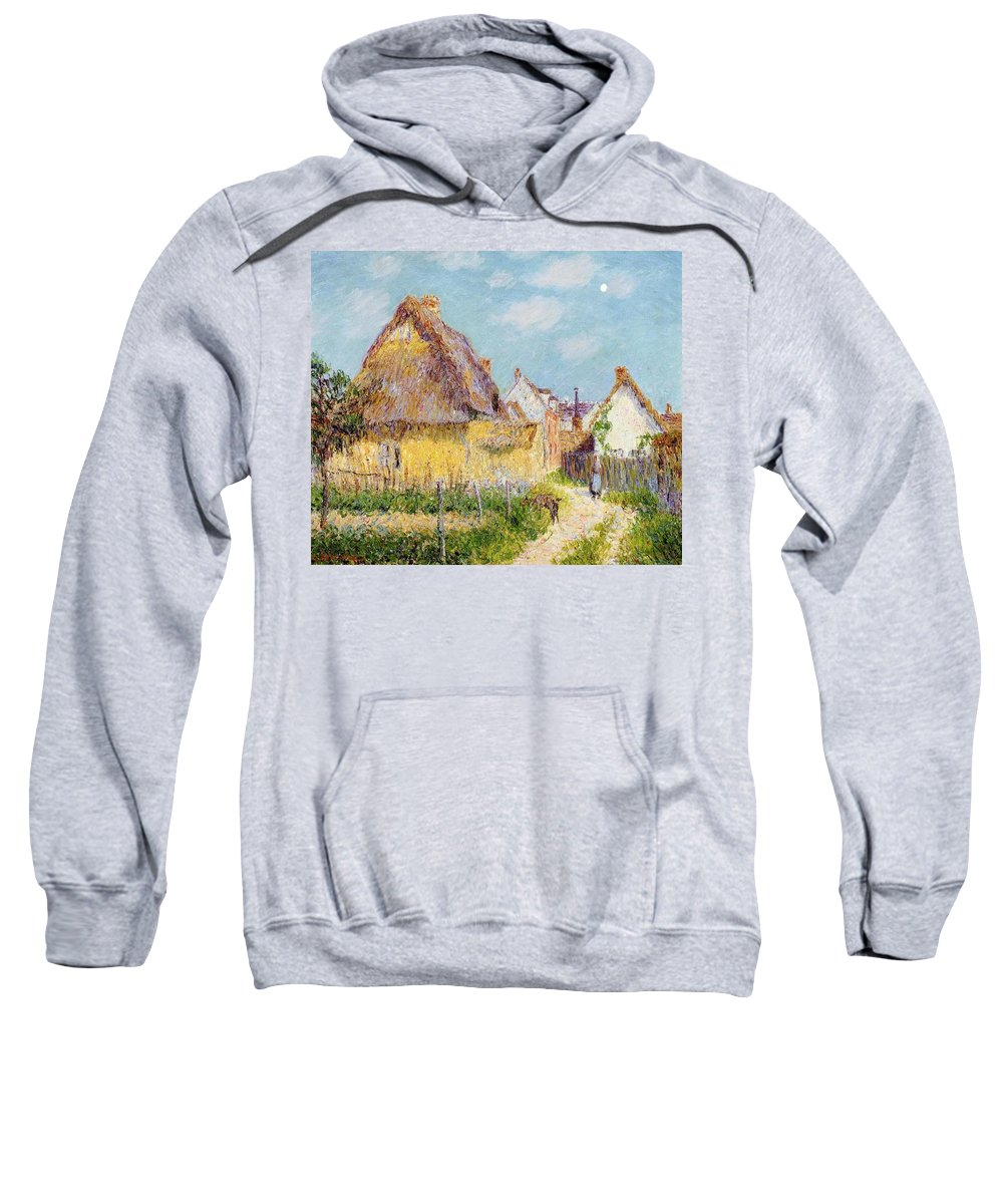 Cottage At Le Vaudreuil Sweatshirt featuring the painting Cottage At Le Vaudreuil by Gustave Loiseau