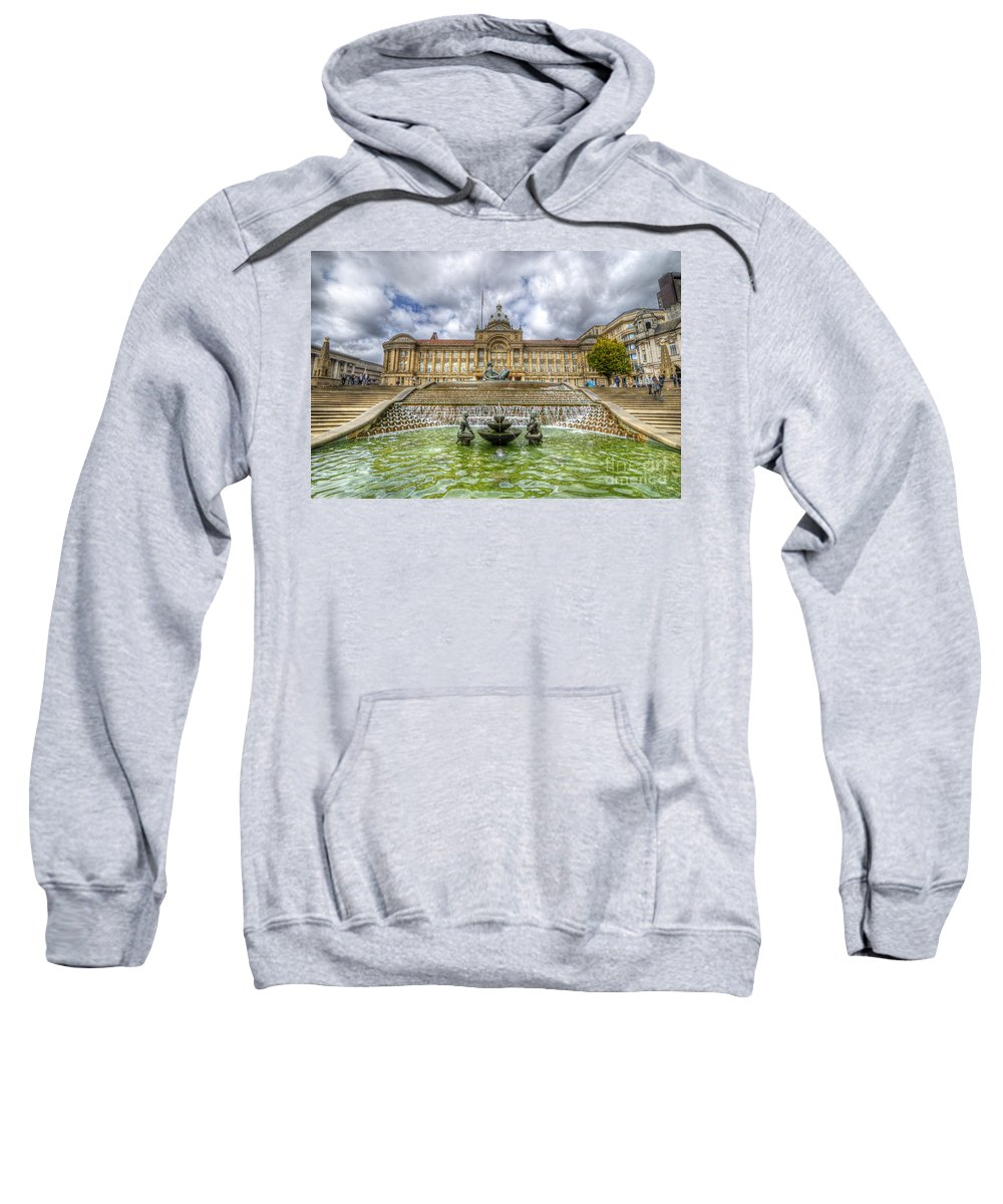Art Sweatshirt featuring the photograph Council House And Victoria Square - Birmingham by Yhun Suarez