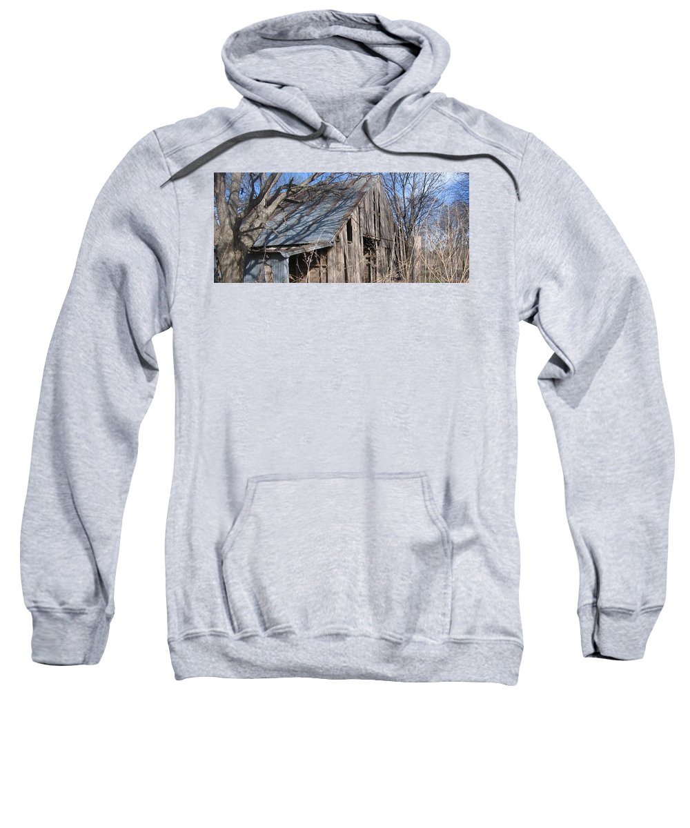 Country Sweatshirt featuring the photograph Country Barn by Amy Hosp