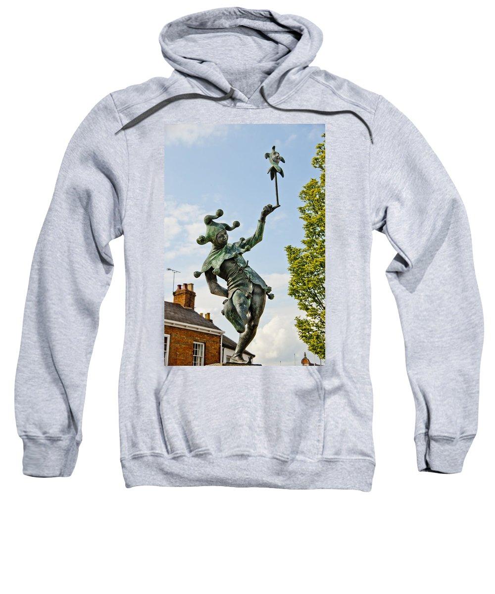 England Sweatshirt featuring the photograph Court Jester by Jon Berghoff