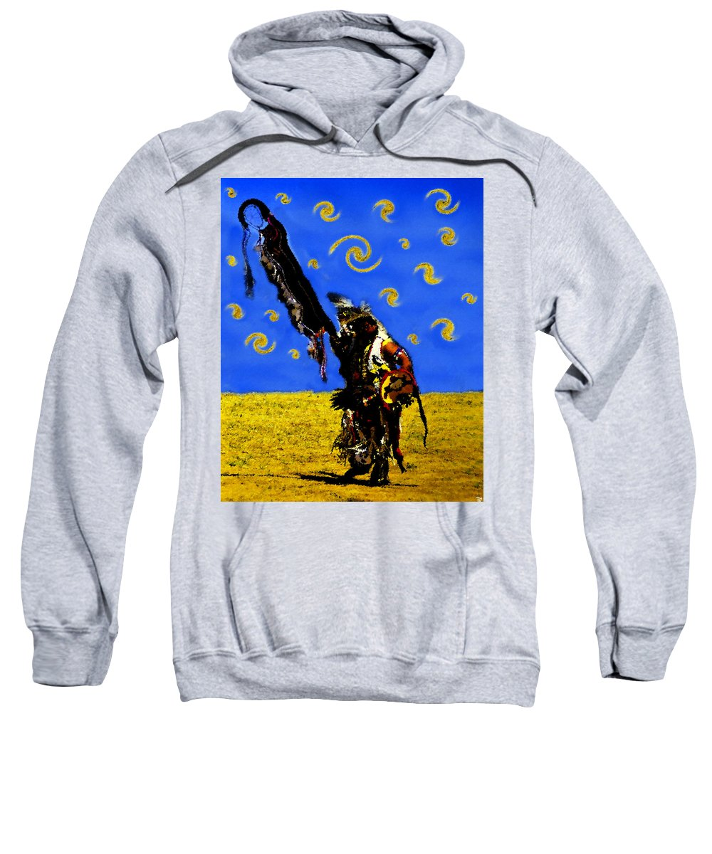 Art Sweatshirt featuring the painting Crazy Eyes Vision Dance by David Lee Thompson