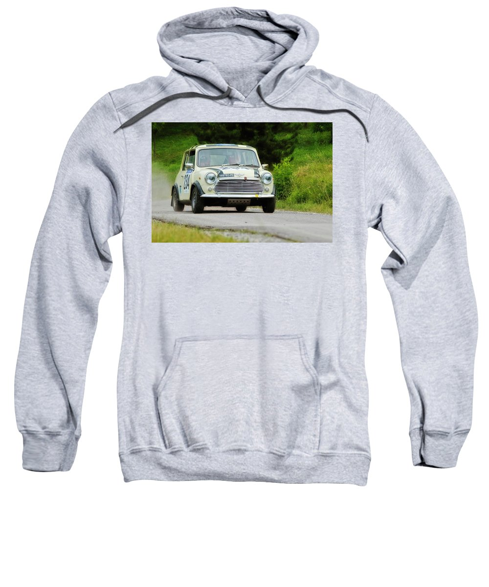Car Sweatshirt featuring the photograph Cream Mini Innocenti by Alain De Maximy