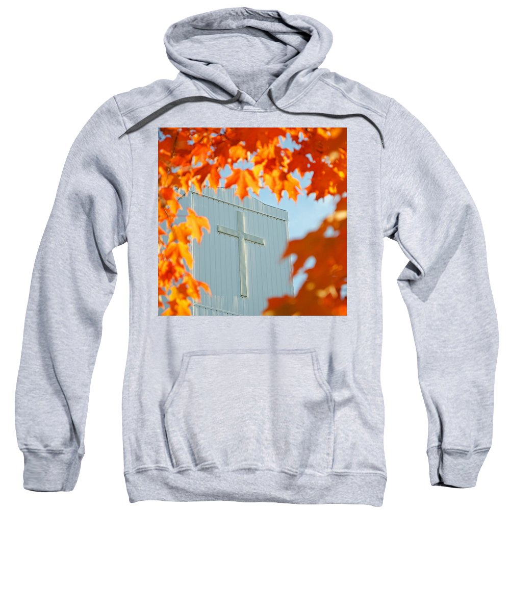 Leaves Sweatshirt featuring the photograph Crown Of Leaves by Jeff Galbraith