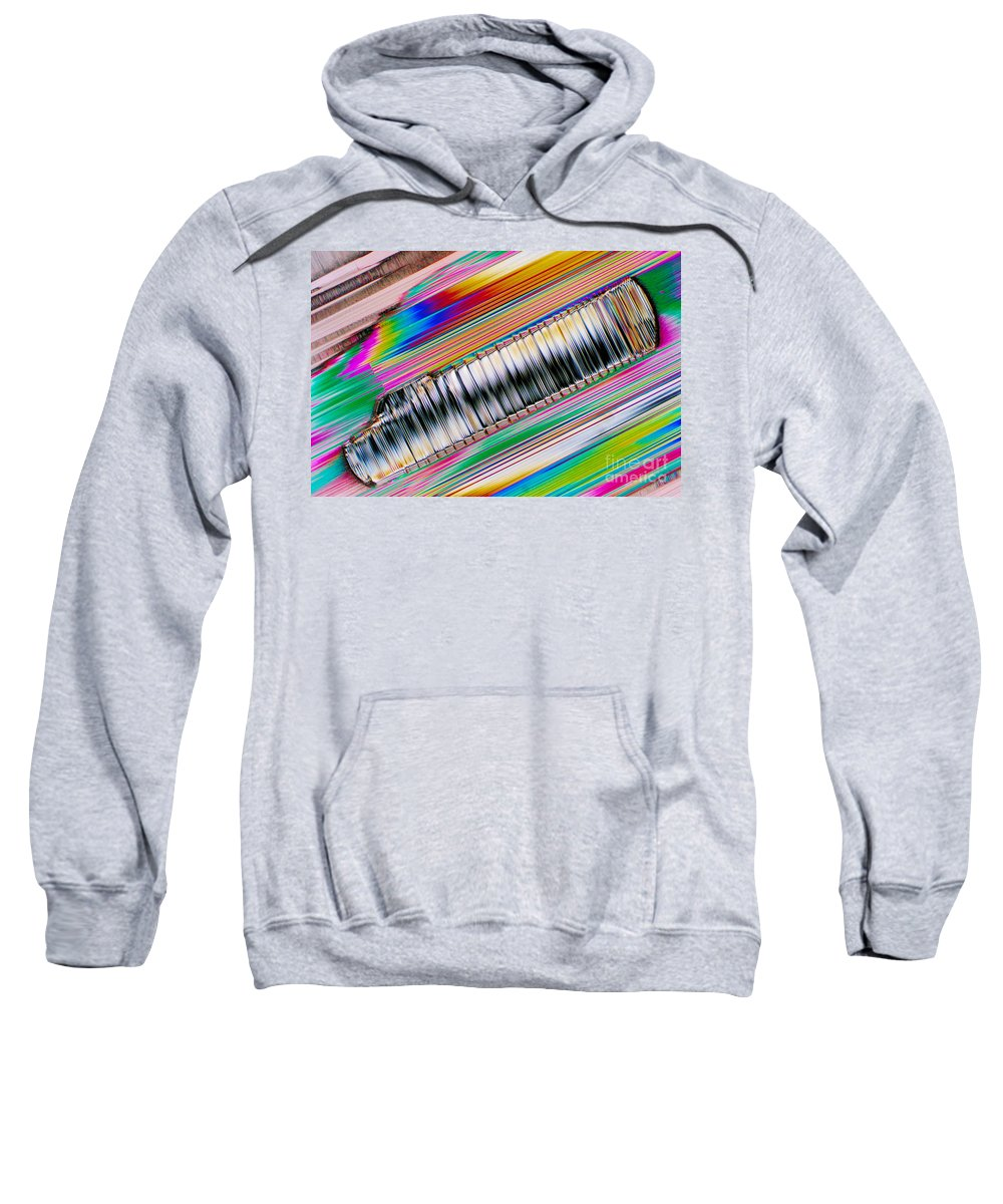 Chemistry Sweatshirt featuring the photograph Crystal Aluminate by Michael W. Davidson