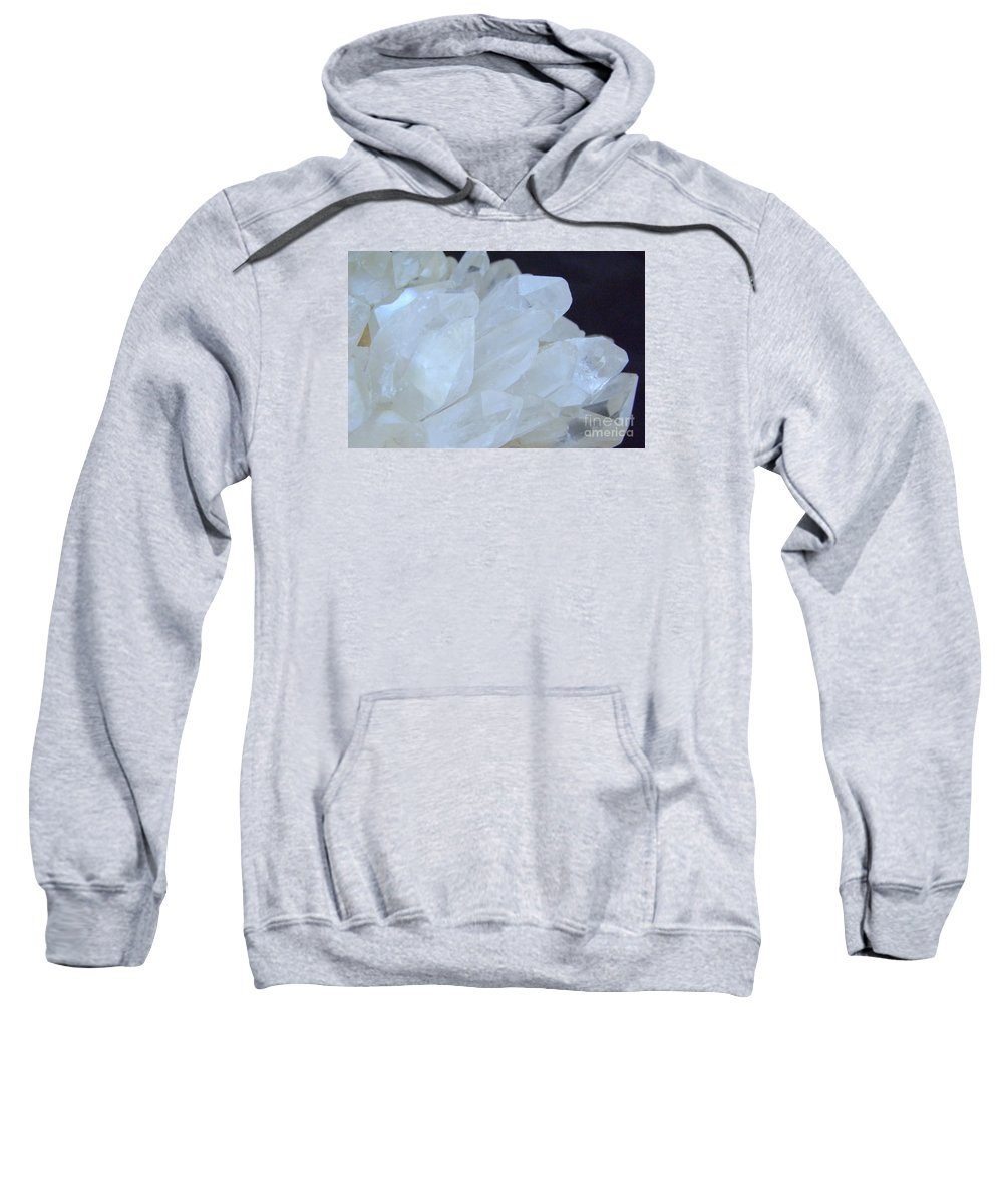 Crystal Cluster Sweatshirt featuring the photograph Crystal Cluster by Mary Deal