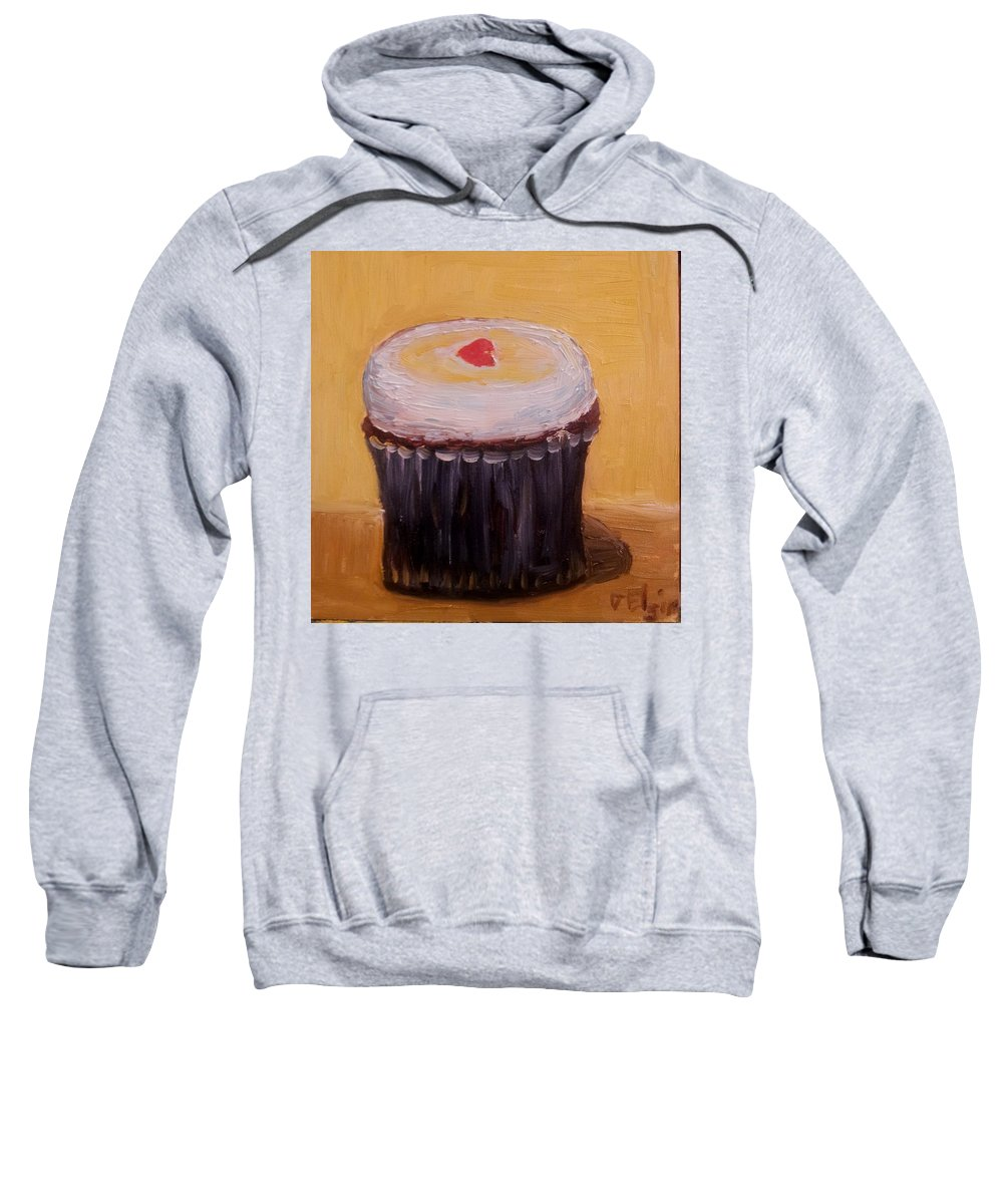 Food Sweatshirt featuring the painting Cupcake by Diane Elgin