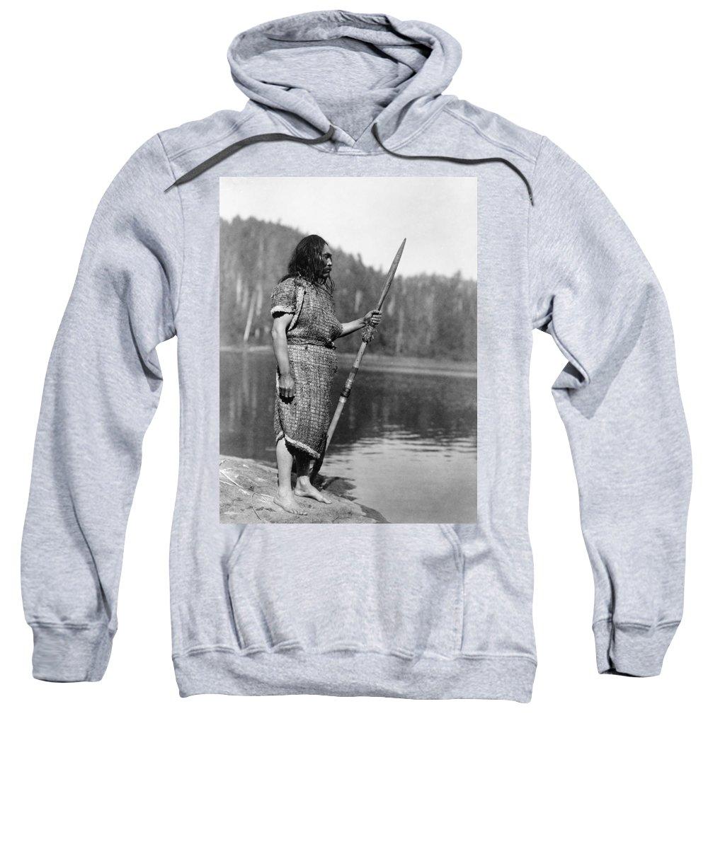 1910 Sweatshirt featuring the photograph Curtis: Nootka Man, C1910 by Granger