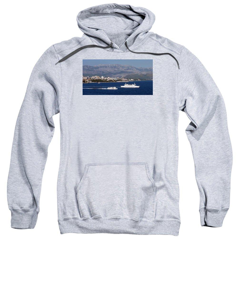 Dalmatia Sweatshirt featuring the photograph Dalmatian Coast by Carla Parris