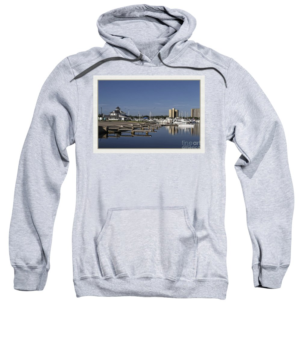 Boat Launch Sweatshirt featuring the photograph Daytona Boat Launch by Deborah Benoit