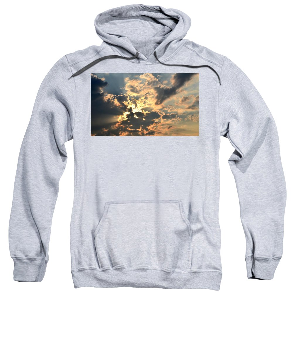 Dazzling Sweatshirt featuring the photograph Dazzling Sunset by Maria Urso